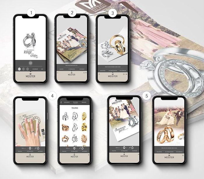 """Die MEISTER """"Weddingring"""" App"""